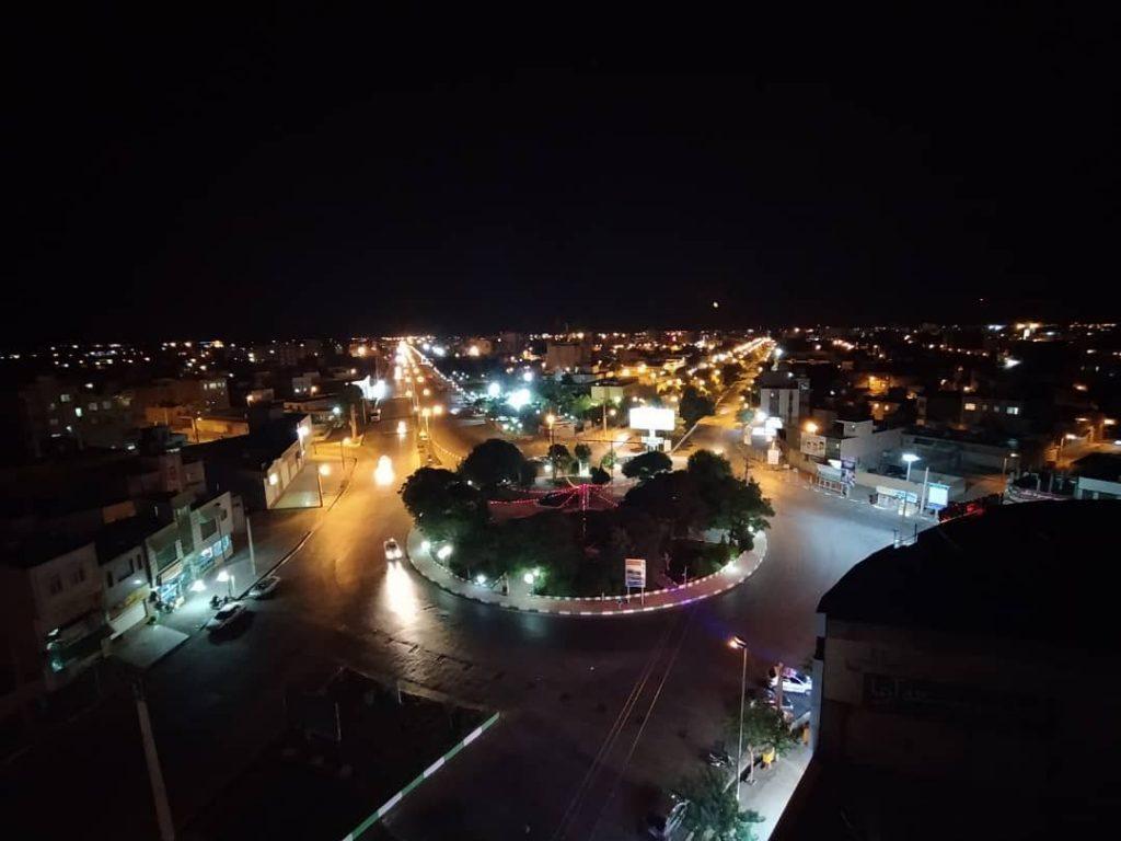 نور و رنگ شهر در شب